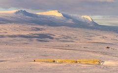 Schutzgitter gegen Schneeverwehungen