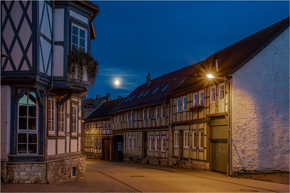 Schwanebeck nachts