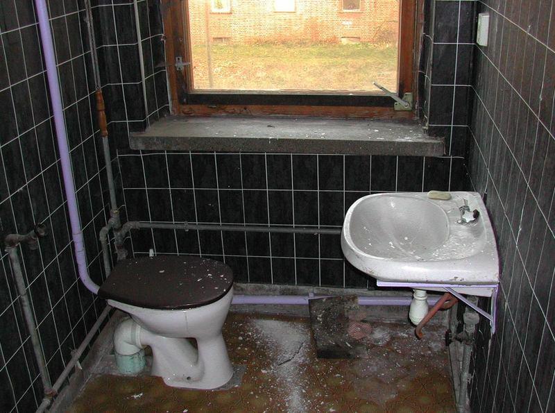 Schwarz Lila Bad Foto Bild Die Toilette Motive Bilder Auf