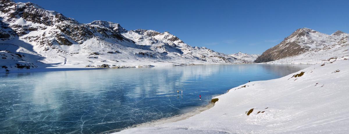 Schwarzeis auf dem Lago Bianco