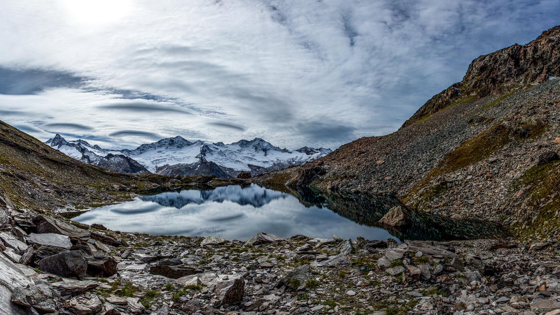 Schwarzsee und Zillertaler Hauptkamm, Tirol, Österreich