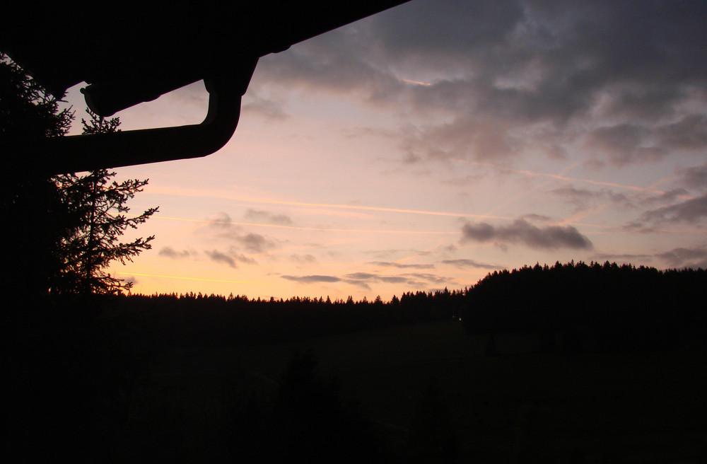 Schwarzwald morgens um 7 Uhr im Oktober