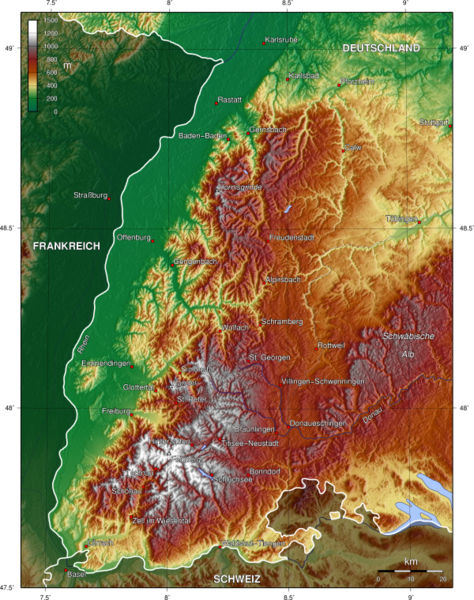 Südschwarzwald Karte.Schwarzwald Geografische Karte Foto Bild Schwarzwald Bilder