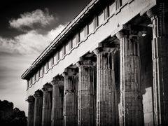 Schwarzweiss-Fotografie: Athen - Tempel des Hephaistos