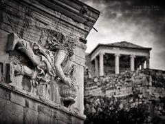 Schwarzweiss-Fotografie: Athen - Turm der Winde