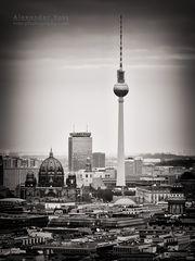 Schwarzweiss-Fotografie: Berlin Skyline
