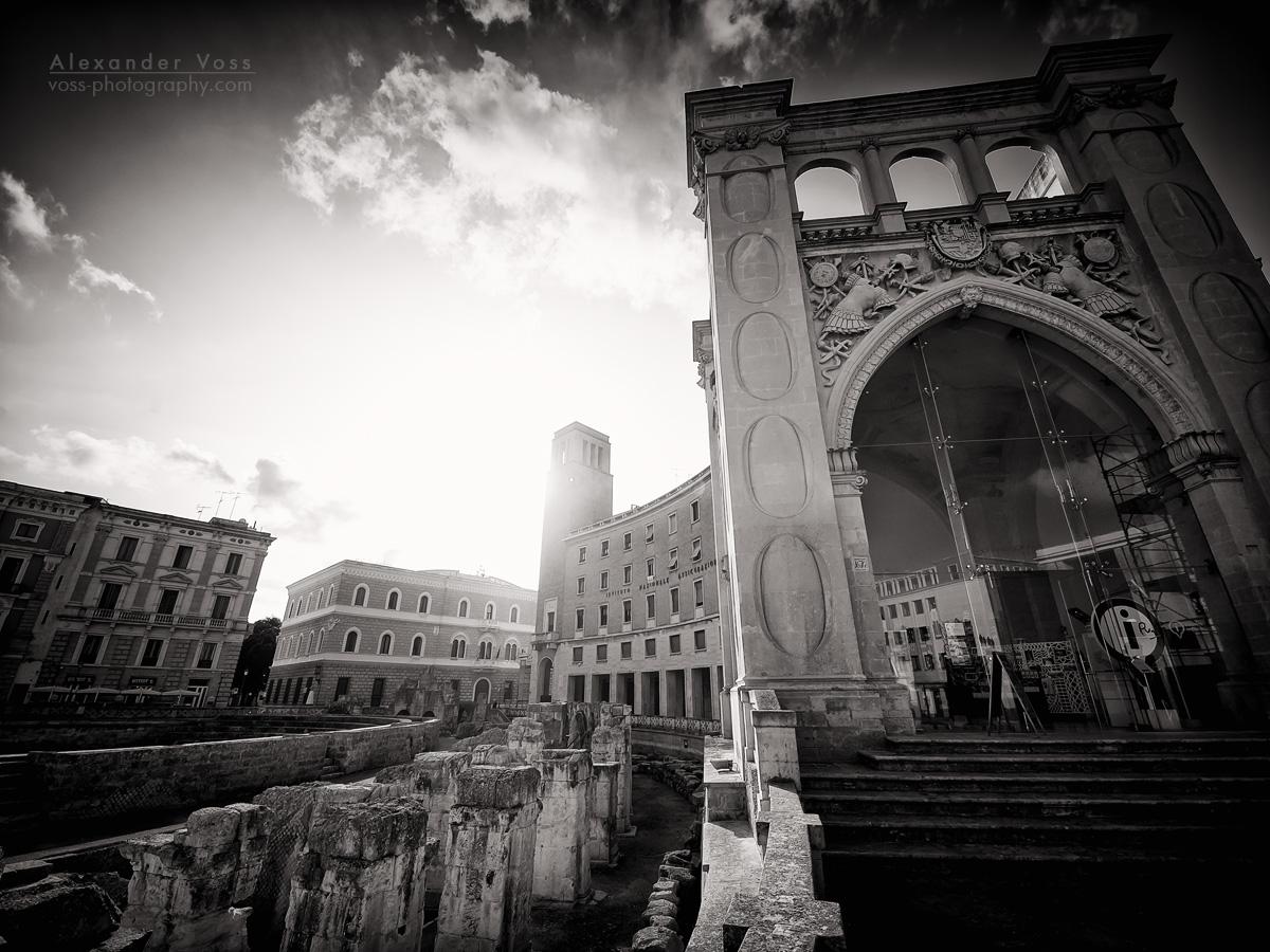 Schwarzweiss-Fotografie: Lecce - Palazzo del Seggio