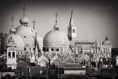 Schwarzweiss-Fotografie: Venedig - Markusdom