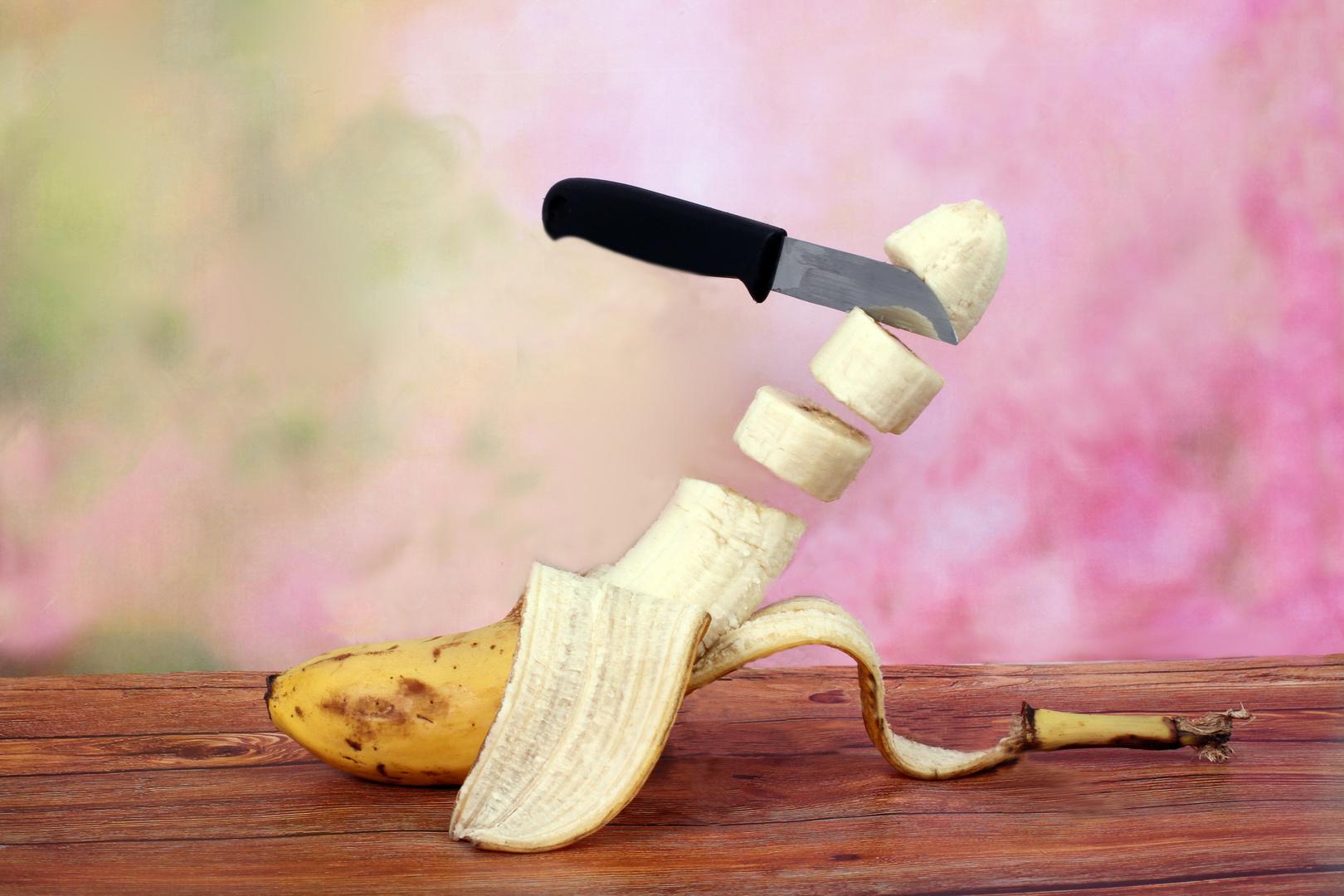 Schwebende Banane