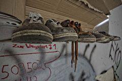 schwebende Schuhe...