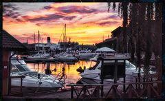 Schweden #15 (Harbour sunset)