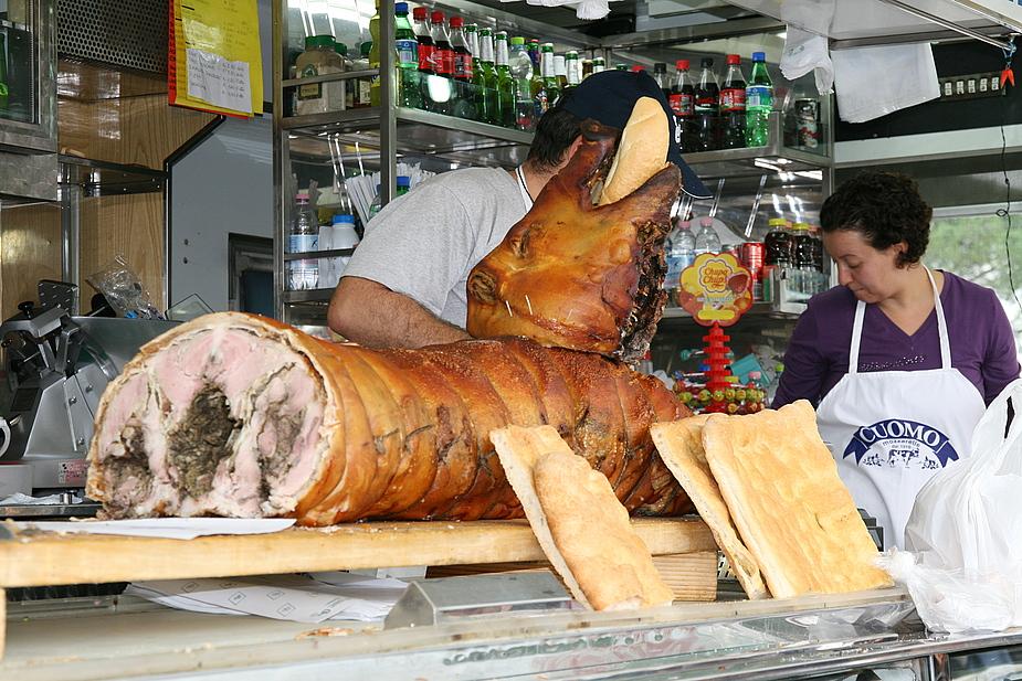 Schweinebraten am Stück