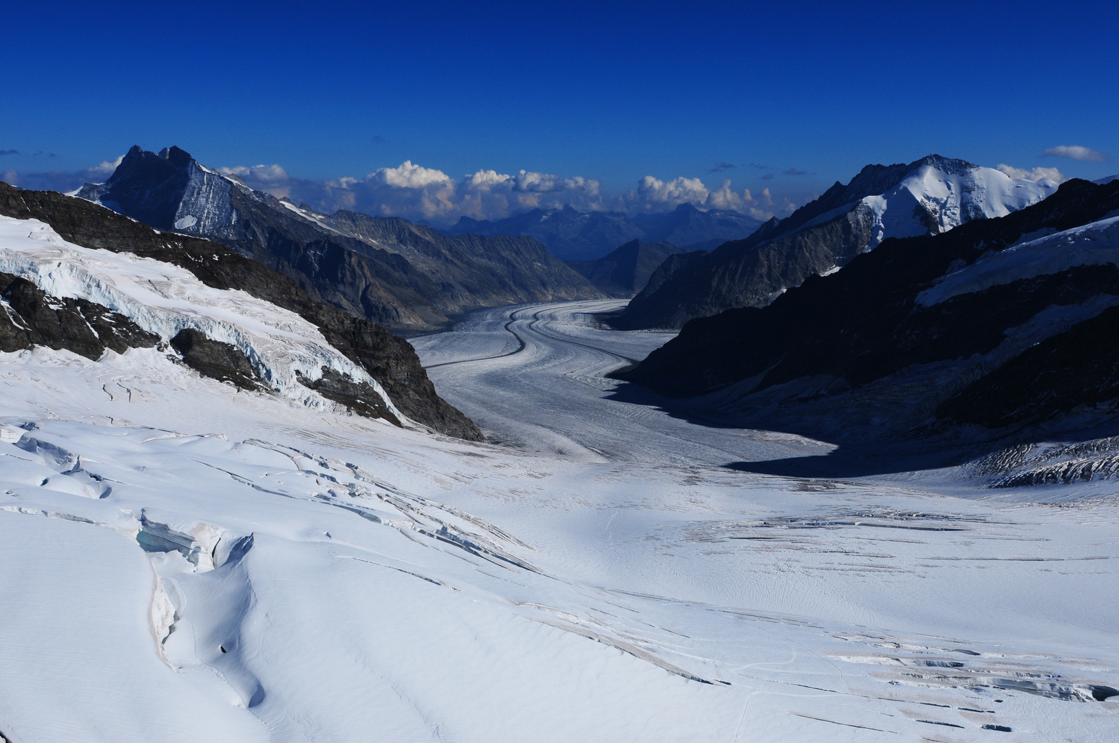 Schweiz: Der Aletsch Gletscher im Wallis