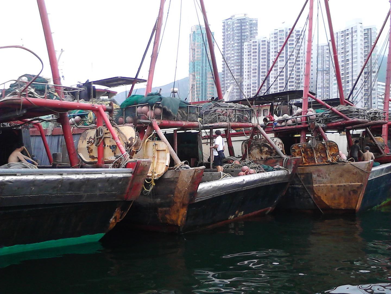 Schwere Arbeit in Hongkong