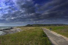 Schwere Wolken über der Insel Hiddensee