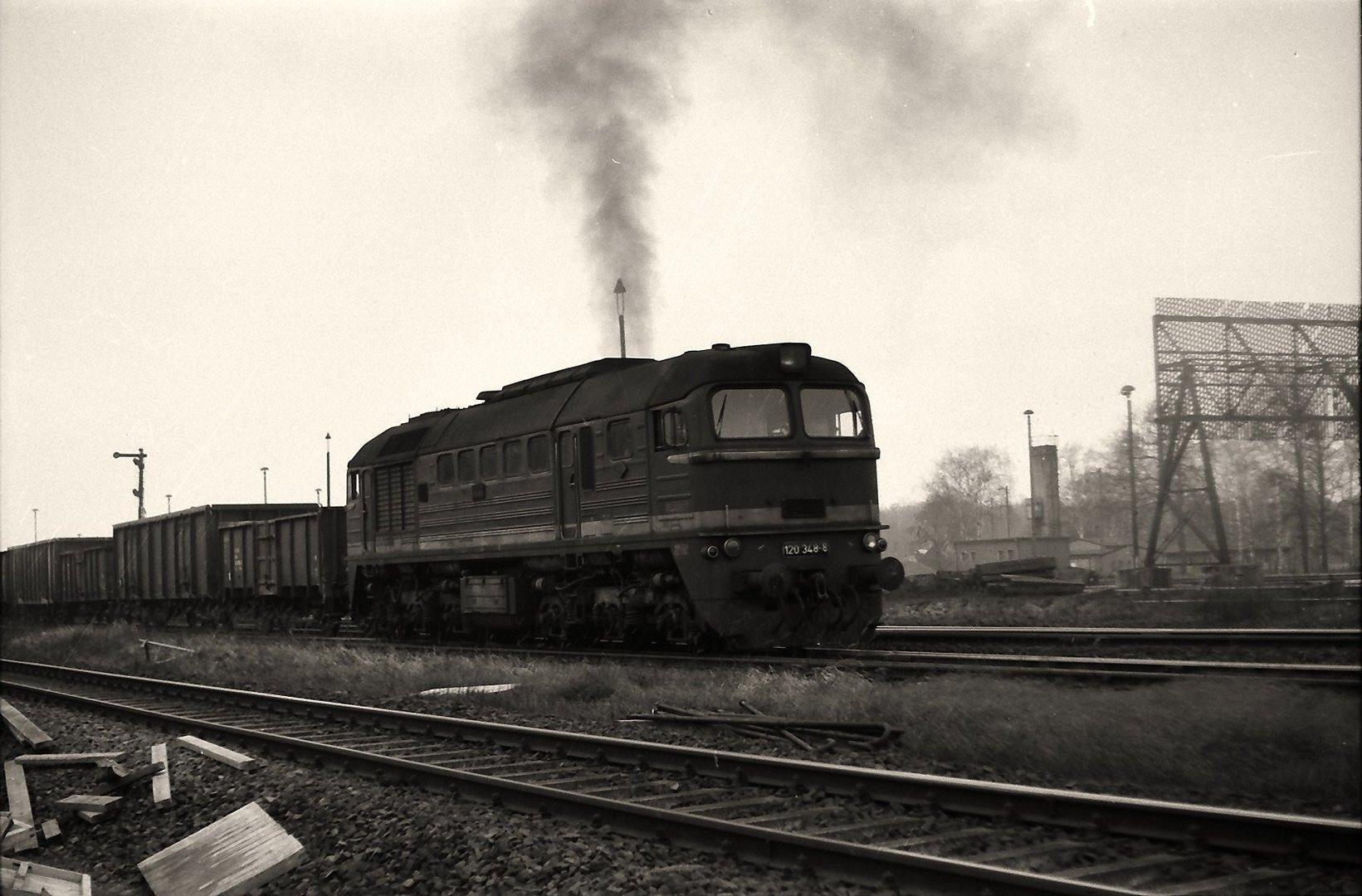 Schwerer Güterzug nach Cottbus ...