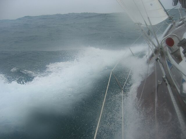 Schweres Wetter auf dem Atlantik