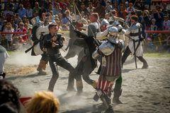 Schwertkampf bei den Südtiroler Ritterspielen
