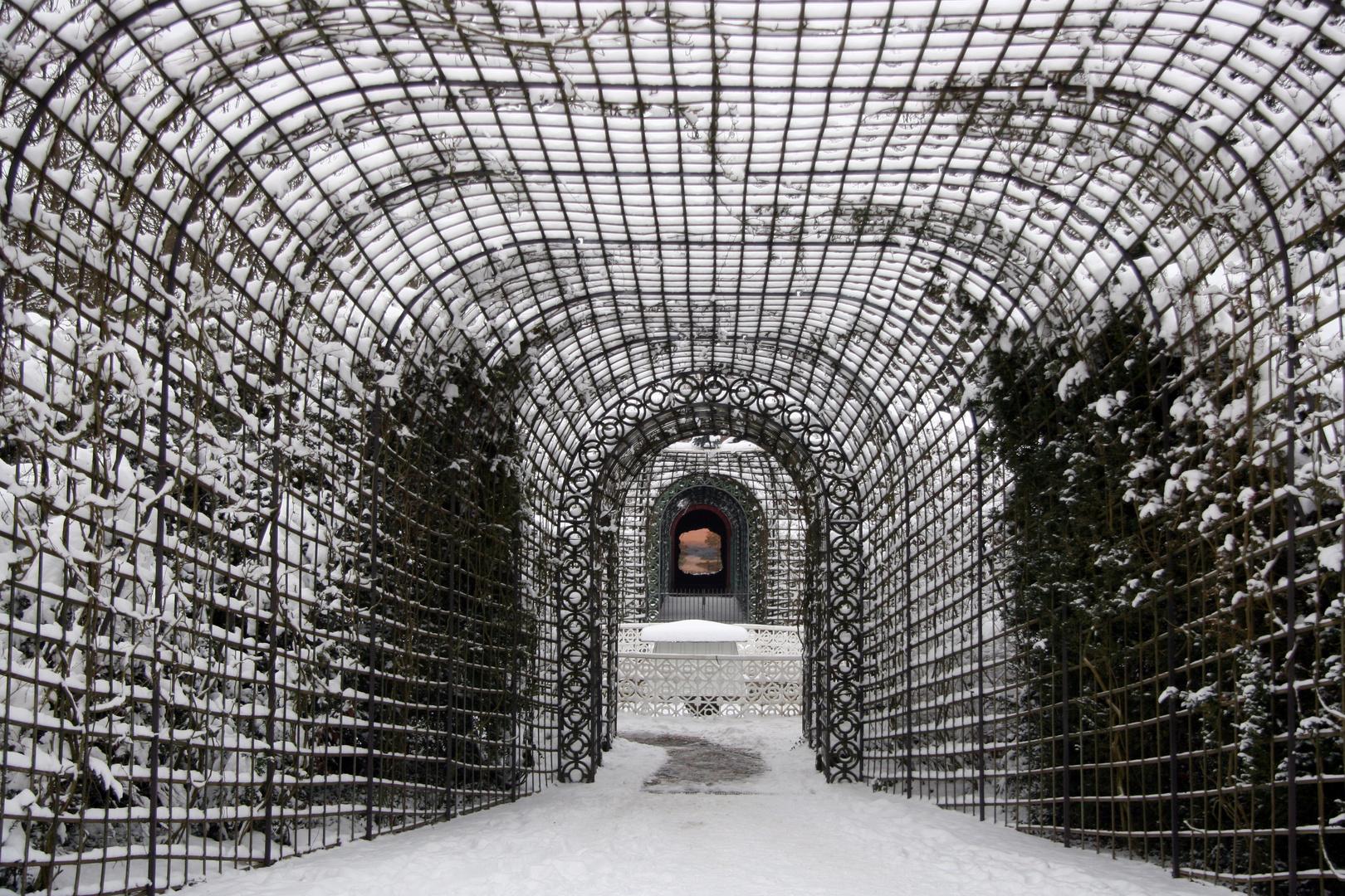 Schwetzingen Schloss: Blick zum Ende der Welt