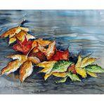 schwimmende Herbstblätter...
