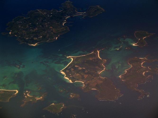 Scilly Islands (England) aus der Luft