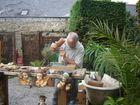 sclpteur sur bois à Locronan