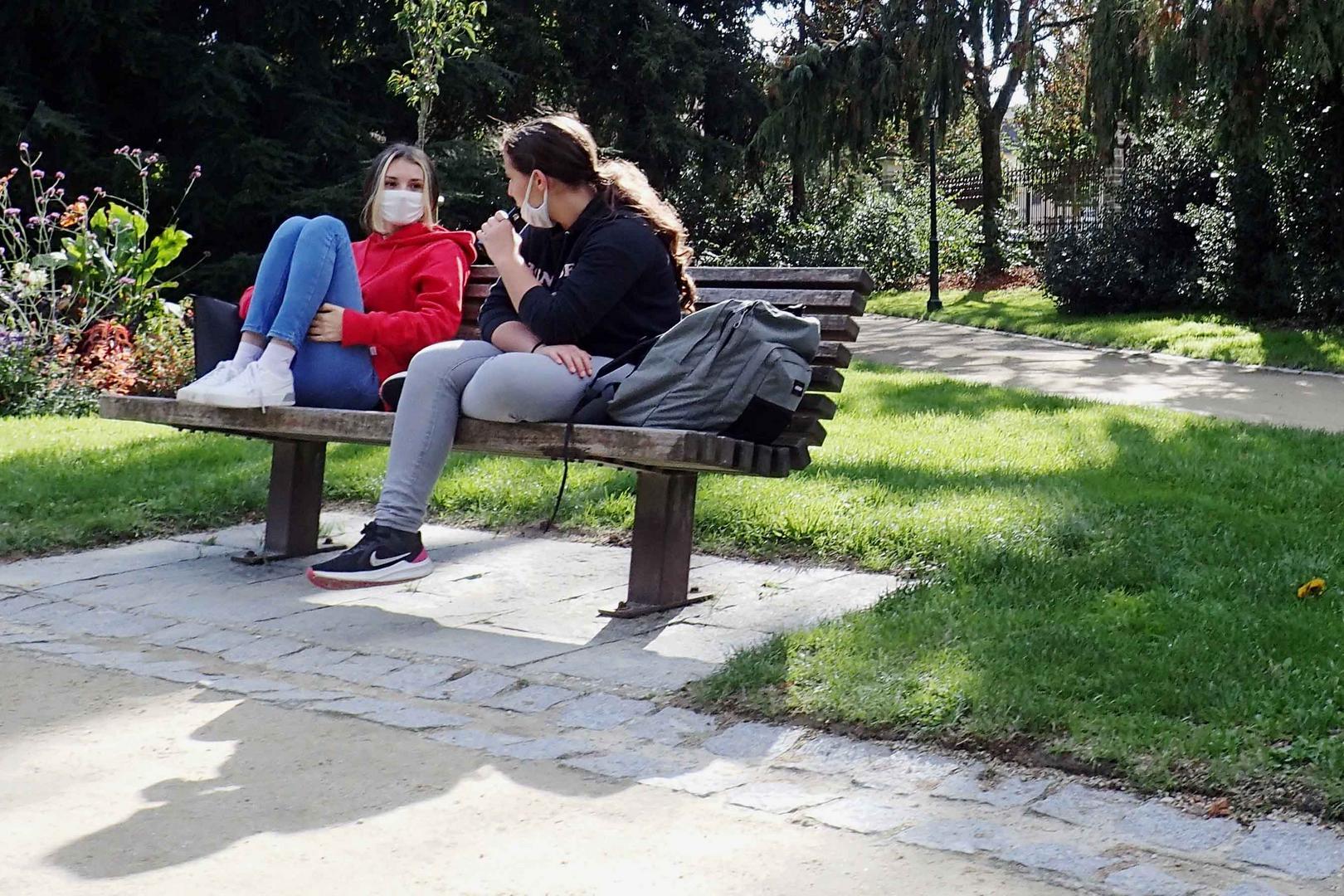 scolarité: la pause au parc