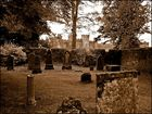 Scone Palast in Perth / Schottland, mit Friedhof.