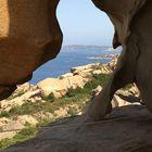 Scorcio di mare Della Sardegna in grotta