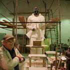 Sculptor in Arbeitsprozesse.