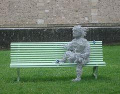 ...Sculpture en fibre de coton..