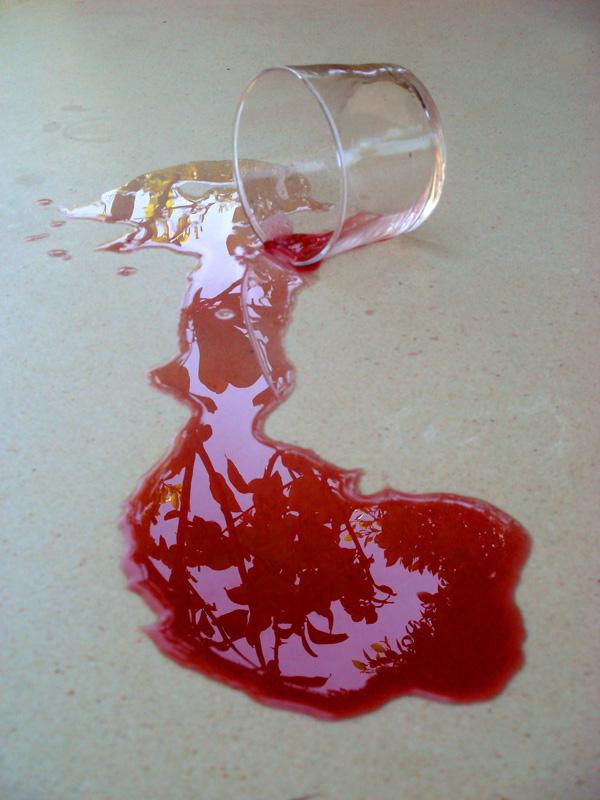 Se volcó el vaso