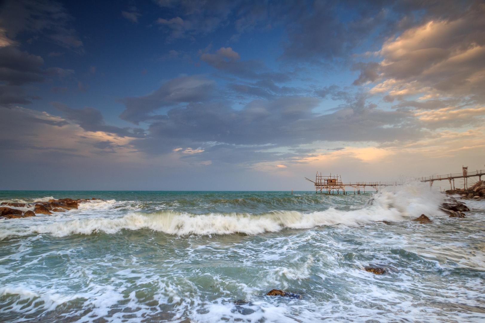 Sea storm Trabocco Turchino