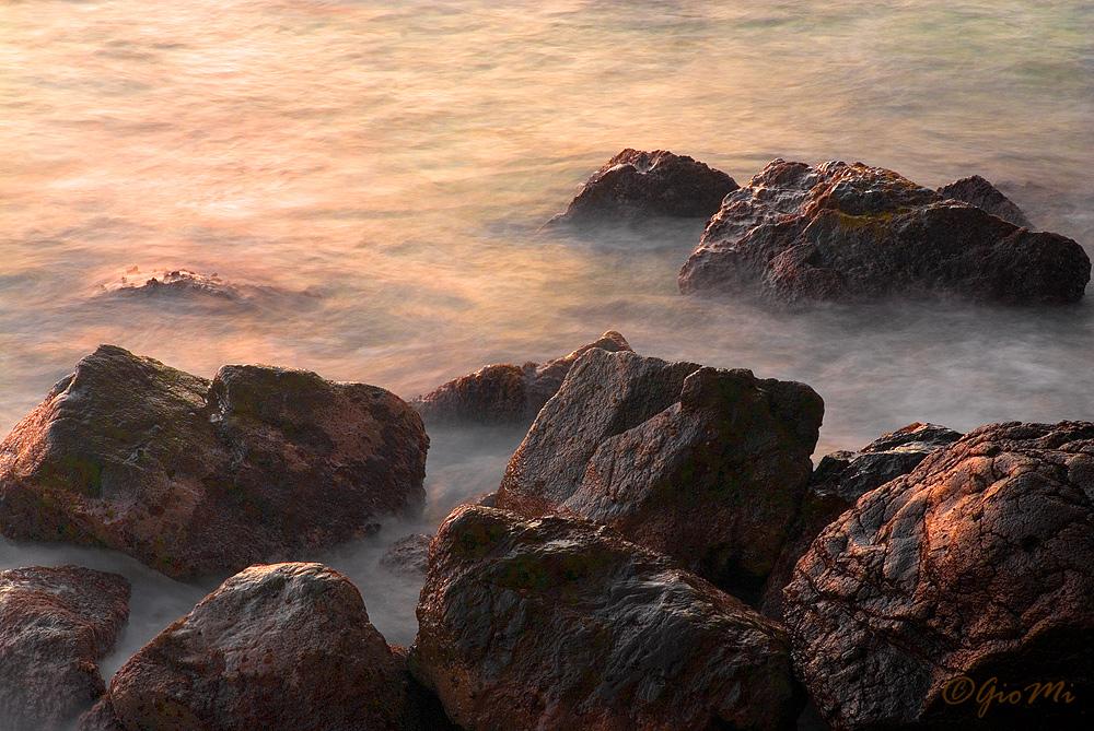 Sea Whispers Between Rocks