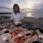 Seafood am Strand von Jimbaran