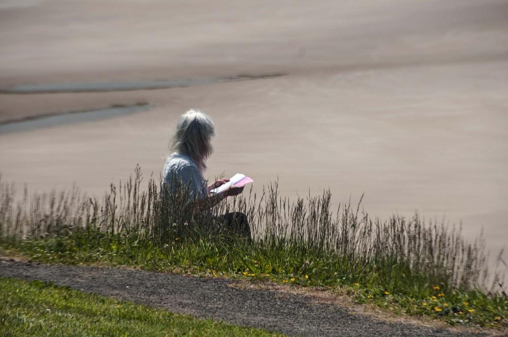 Seaside reader.