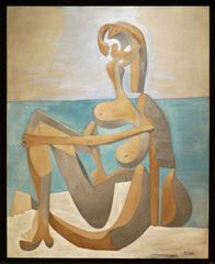 """ Seated Bather """