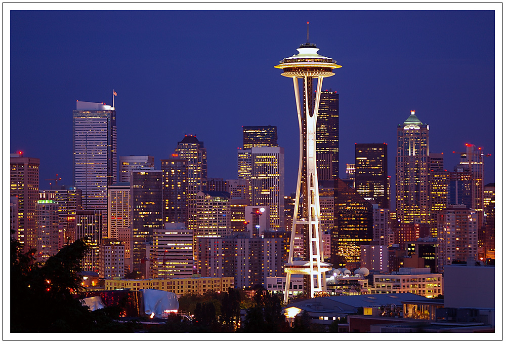 Seattle Skyline and Spaceneedle
