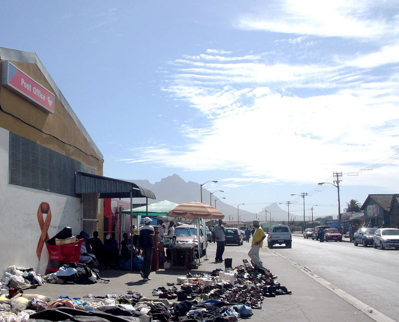 Secondhand shoes and clothes sold on the street