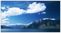 See, Berge und Wolken - Lake Hawea