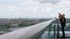 Seeadler Victor auf dem Lanxess Tower in Köln