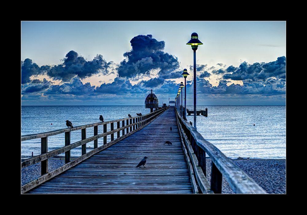 Seebrücke im Morgengrauen ,Zinnowitz
