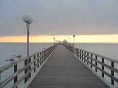 Seebrücke von Grömitz im Dezember