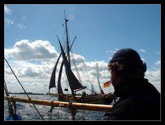 Seefahrermathematik : drei Schiffe + gleicher Kurs = Regatta!!