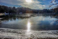 Seehamer See im Gegenlicht