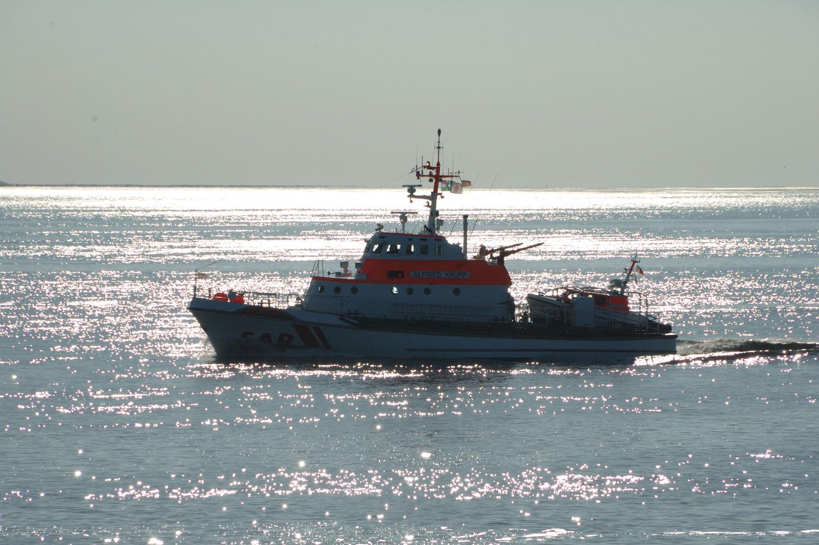 Seenotkreuzer in der Nordsee