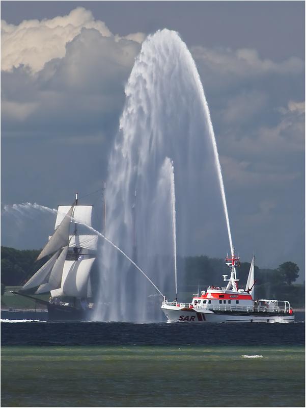 Seenotrettungskreuzer bei Laboe