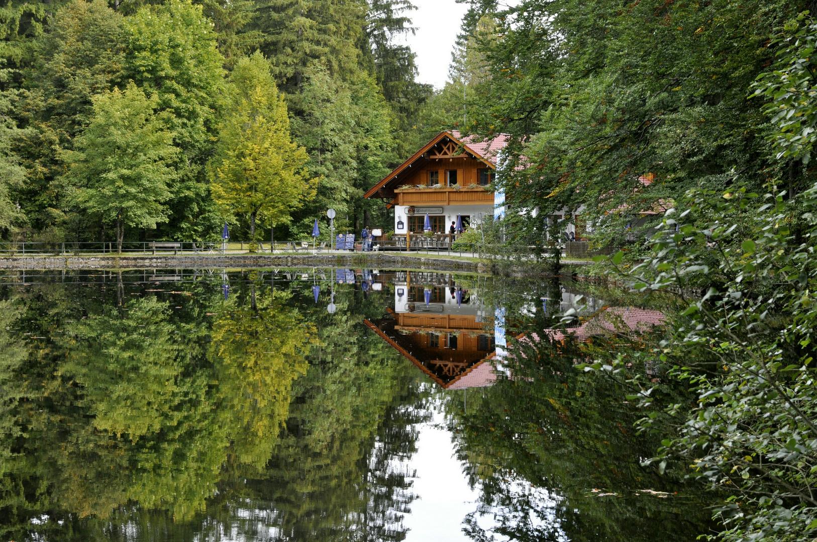 Seespiegelung Füssen Faulenbach