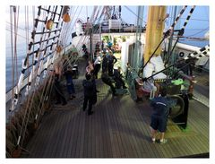 Segelbergen I an Bord der Kruzenshtern