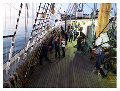 Segelbergen II an Bord der Kruzenshtern